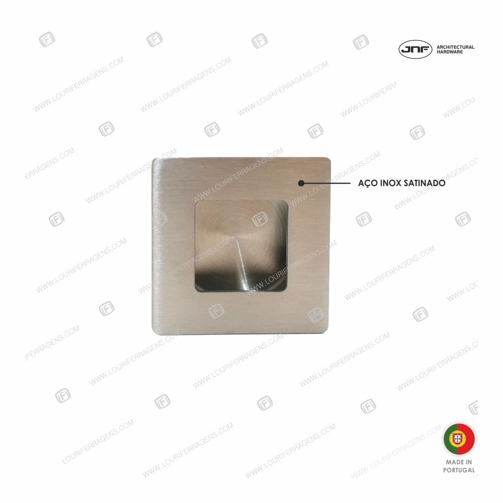 Concha/Puxador Embutir Quadrada IN.16.223.50 Aço Inox