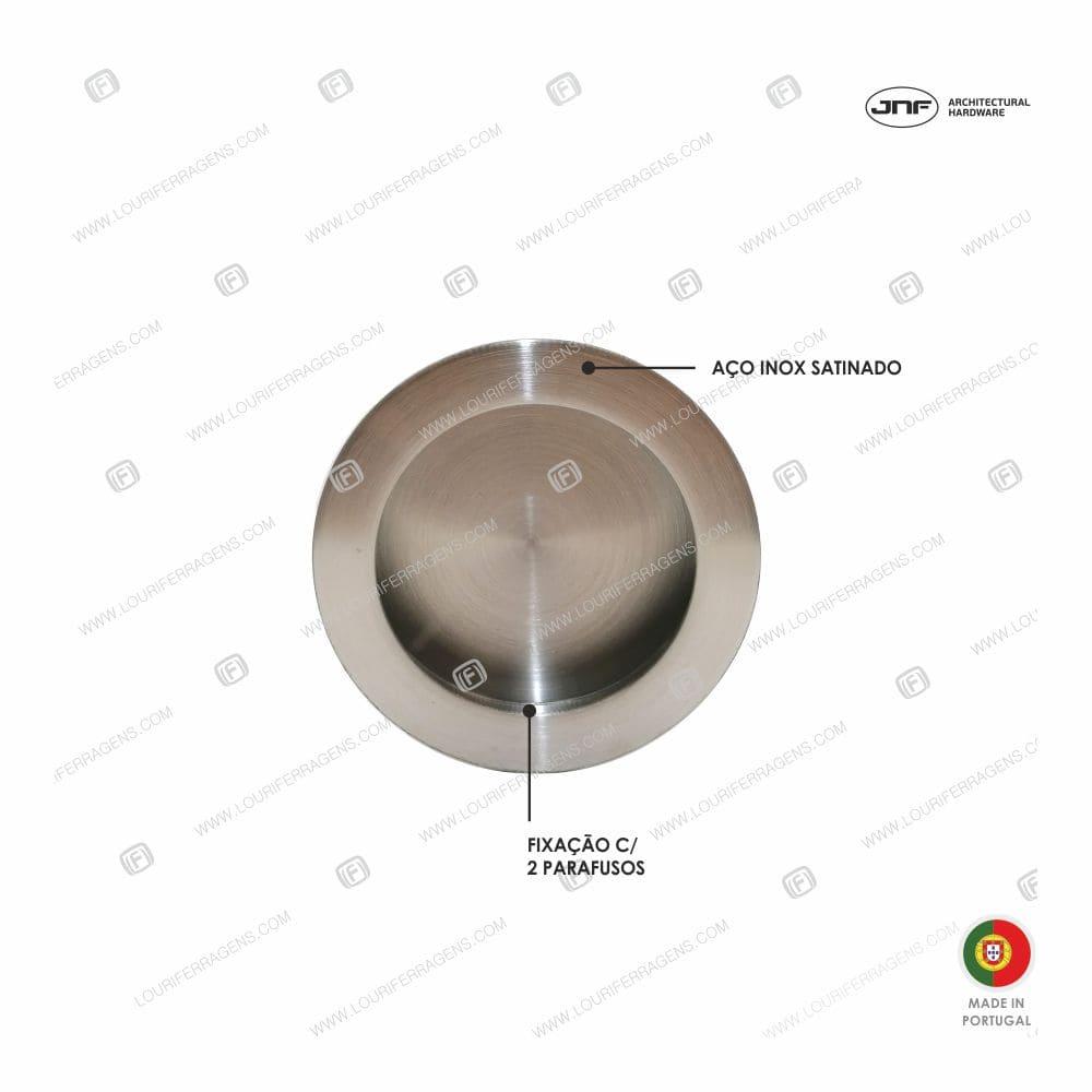 Concha/Puxador Embutir Redonda IN.16.225.70 Aço Inox